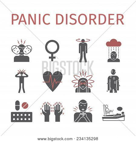 Panic Disorder Icon Infographic. Vector Sign For Web Graphics, Magazines, Brochures