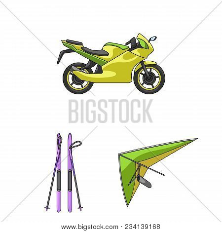 Extreme Sport Cartoon Icons In Set Collection For Design.different Kinds Of Sports Vector Symbol Sto