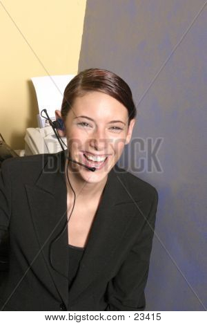 Business Headset Woman