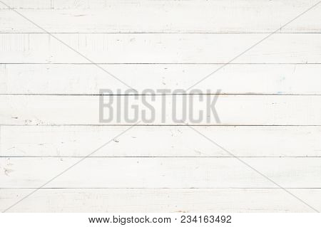 White Natural Wood Wall Texture And Background,empty Surface White Wooden For Design,top View White