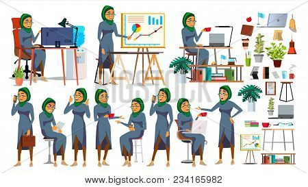 Boss Working Character Vector. Working Bearded Male. Modern Office Workplace. Animation Work. Cartoo