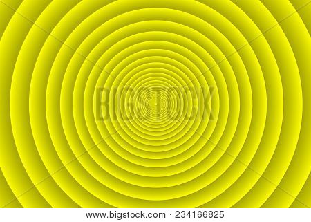 Concentric Circle Elements Pattern, Yellow Color Ring, Circle Spin Target,