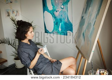 Woman Uses Creative Process Of Art Making To Improve And Enhance Physical, Mental And Emotional Well