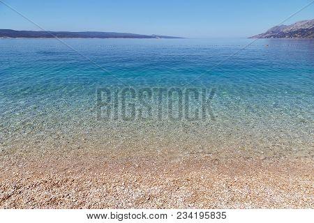 Seaside Beach On Punta Rata Beach In Brela, Croatia