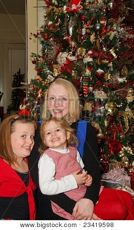 Three Girls At Christmas