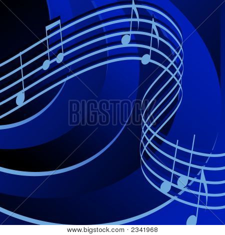 Rythm In Blue Background