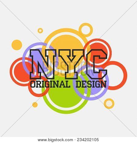 New York Typography, T-shirt Nyc, Design Graphic,  Printing Man Nyc, Original Design Clothing, Cloth