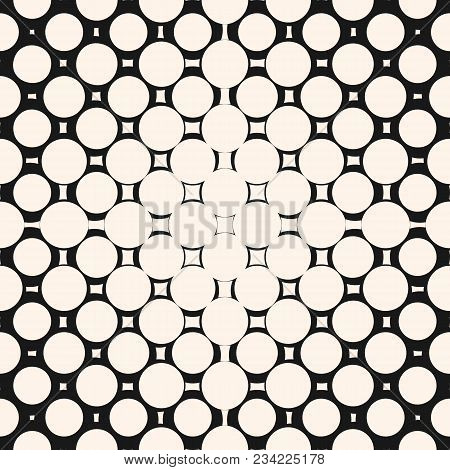 Vector Halftone Circle Pattern. Geometric Seamless Texture With Round Shapes. Circles Pattern. Squar