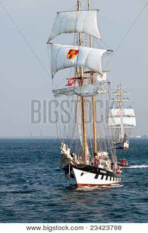 Gdynia - September 05: Sailing Vessel Brabander On Open Sea During Culture 2011 Tall Ships Regatta,2
