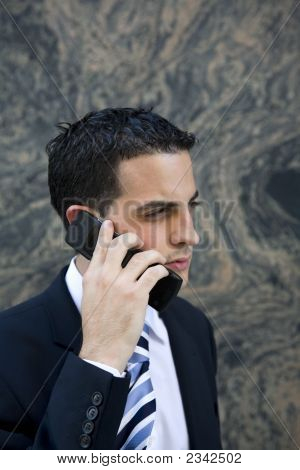 Attractive Young Executive On Cell Phone