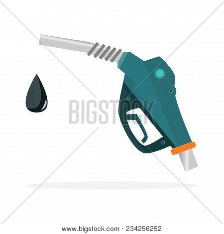 Fuel Pump Nozzle Icon. Petrol Station Sign. Fuel Background. Vector Illustration,