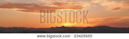 Calabria sunset panorama