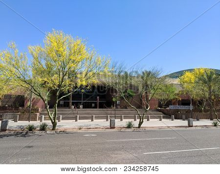 Phoenix, Az, Usa - March 30, 2018:  Phoenix Convention Center South Building Entrance From 3rd Stree