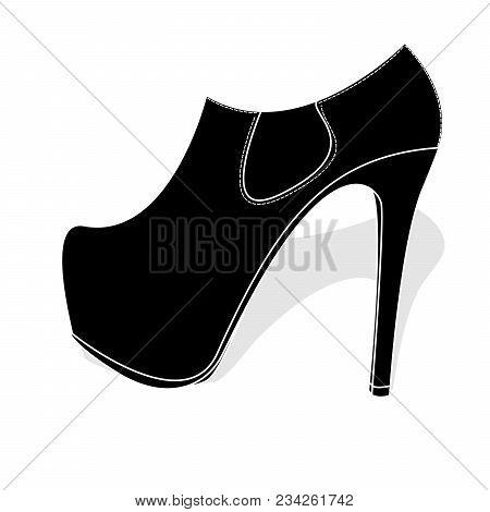 Fashionable Womanish Shoes Isolated On White