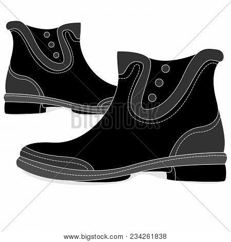 Rubber Boots Illustration Set