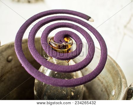 Mosquito Coil Is A Purple Lavender Scent..anti-dengue Mosquito Repellent During The Rainy Season..ab