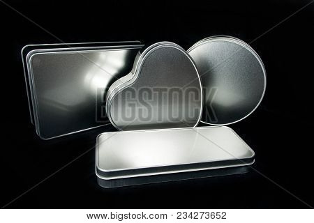 Metal Box Made Of Frosted Iron Sheet Blank For Sublimation Print In Different Shapes - Subject Desig
