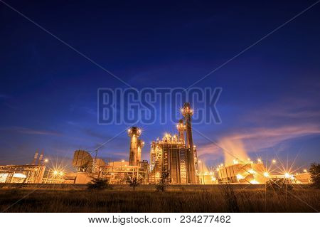 Offshore Oil And Gas Industry At Gas Compression And Waste Heat Recovery Unit Of Gas Turbine Engine
