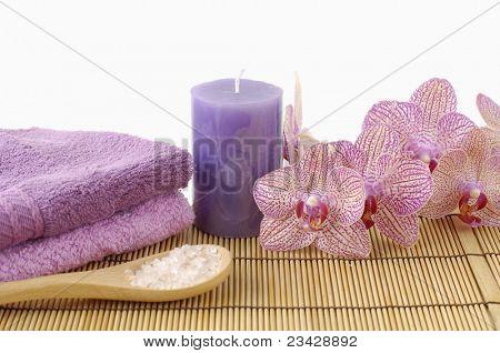 Relaxing spa resort composition- bamboo napkin bamboo