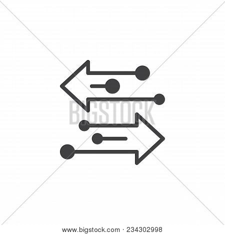 Transfer Arrows Vector Icon. Filled Flat Sign For Mobile Concept And Web Design. Left Right Arrows S