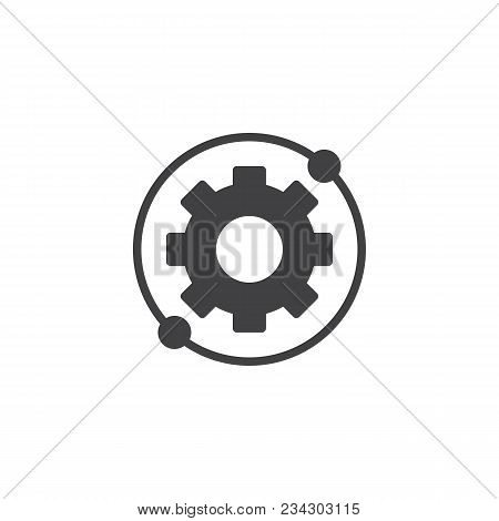 Gear, Settings Circular Vector Icon. Filled Flat Sign For Mobile Concept And Web Design. Gear Option