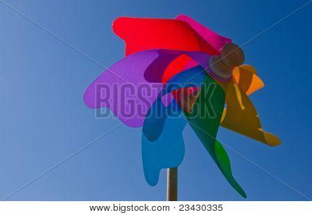 Colourful wind wheel