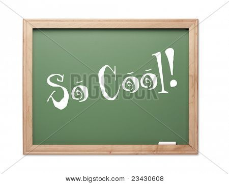 So Cool! Green Chalk Board Kudos Series on a White Background.