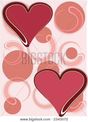 Circle Background W Hearts.Eps