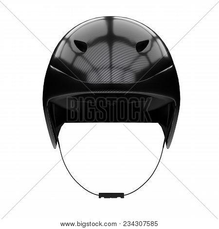 Time Trial Bicycle Carbon Helmet Model. Front View. Equipment Of Road Bicycle Racing. 3d Render Illu
