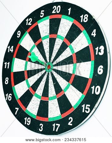 Getting Right On Target, Business Concept. The Dart Board From The Affected Target.