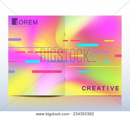 Modern Vector Template For Brochure, Leaflet, Flyer, Cover, Catalog In A4 Size. Abstract Fluid 3d Sh