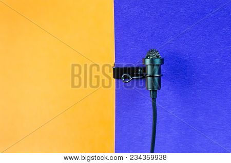 Miniature Microphone Of The Buttonhole.