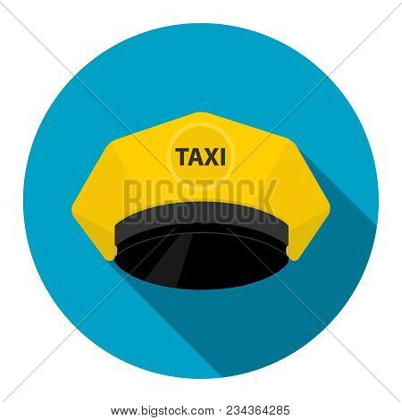A Taxi Driver's Cap, A Yellow Taxi Driver's Cap. The Logo Of The Taxi Service.