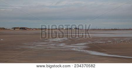 Seascape Photo Of A Sandy Shore Line