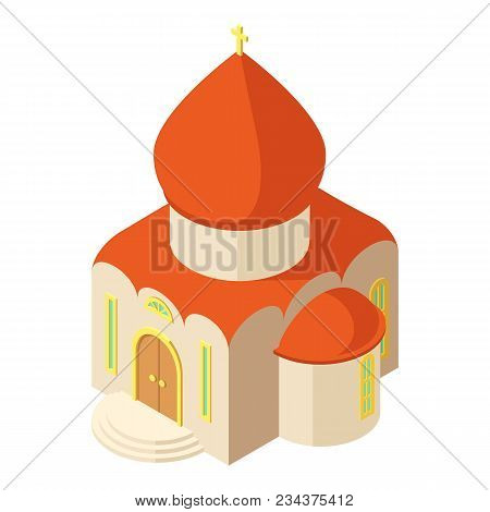 Western Church Icon. Isometric Illustration Of Western Church Vector Icon For Web