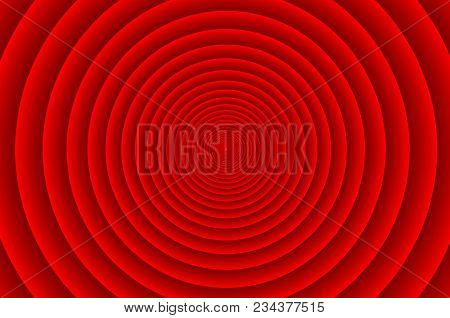 Concentric Circle Elements Pattern, Red Color Ring, Circle Spin Target,