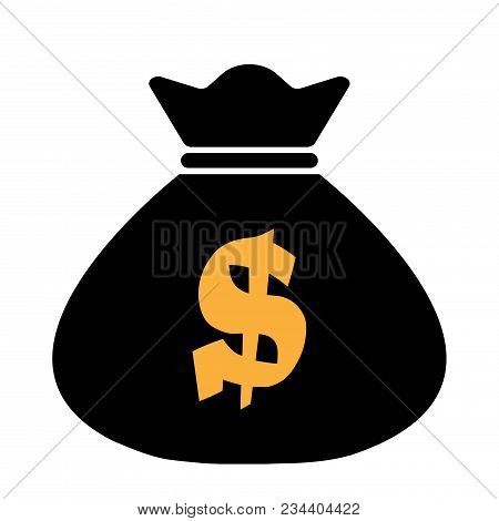 Money Bag Icon,vector Illustration. Flat Design Style. Vector Money Bag Icon Illustration Isolated O