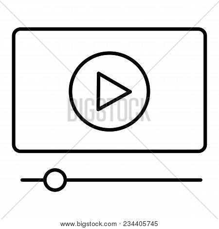 Video Tutorials Vector Icon . Study And Learning Background, Distance Education And Knowledge Growth