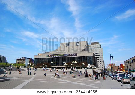 Montreal - May 4, 2009: Theatre Maisonneuve In Place Des Arts On Rue Sainte-catherine, Montreal, Que