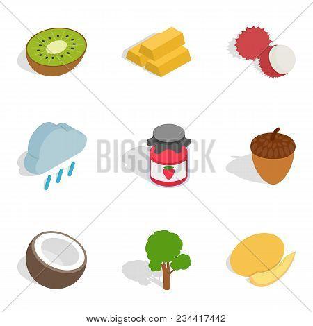 Sustain Icons Set. Isometric Set Of 9 Sustain Vector Icons For Web Isolated On White Background