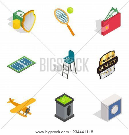 Deserve Icons Set. Isometric Set Of 9 Deserve Vector Icons For Web Isolated On White Background