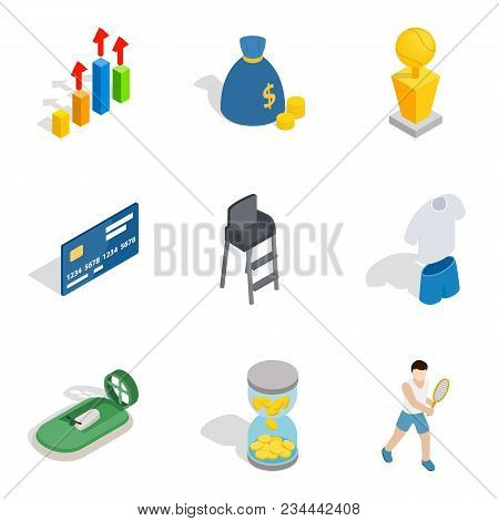 Vital Success Icons Set. Isometric Set Of 9 Vital Success Vector Icons For Web Isolated On White Bac