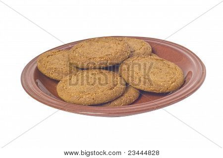 Ginger Nuts On Plate