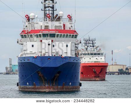 Labuan,malaysia-march 24,2018:offshore Oil And Gas Sub-sea Construction And Support Vessel In Labuan