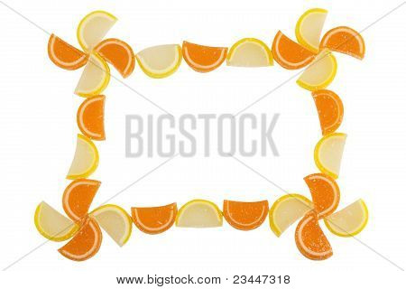 Frame of Fruit Candy
