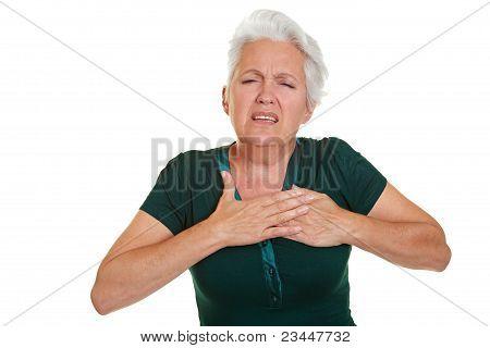 Senior Woman Having Coronary