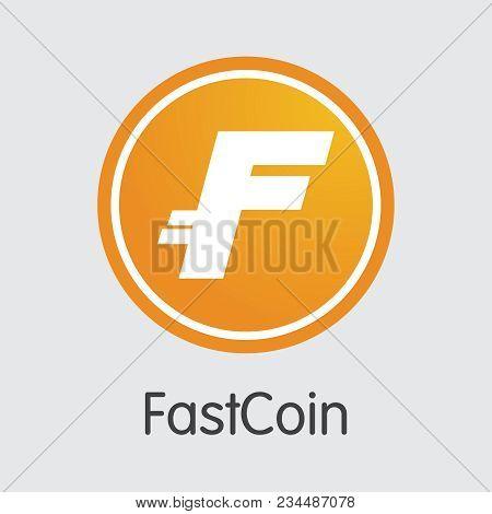 Fastcoin Blockchain Illustration. Blockchain, Block Distribution Cbx Transaction Icon