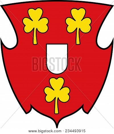 Coat Of Arms Of Cleves Is A Town In The Lower Rhine Region Of Northwestern Germany. Vector Illustrat