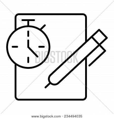 Notes With Stopwatch. Clipboard With Check List, To Do List, Complete Tasks, Survey, Checklist. Time
