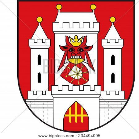 Coat Of Arms Of Uedem Is A Municipality In The District Of Cleves, In North Rhine-westphalia, German